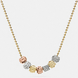 COACH F90925 Dreamer Block Letters Necklace MIXED METAL