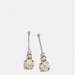 DAISY RIVET DROP EARRINGS - f90941 - SILVER/GOLD