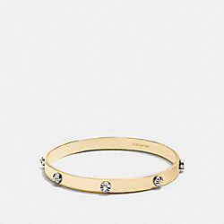 COACH F90945 Daisy Rivet Bangle GOLD/SILVER