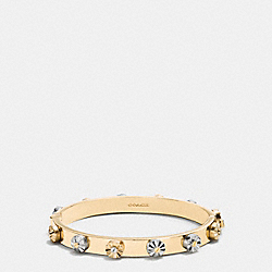 DAISY RIVET HINGED BANGLE - f90948 - SILVER/GOLD