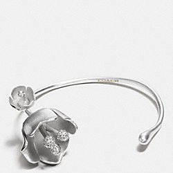 COACH TEA ROSE CUFF - SILVER/BLACK - F90971