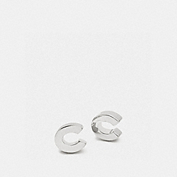 COACH F90980 - COACH C STUD EARRINGS SILVER