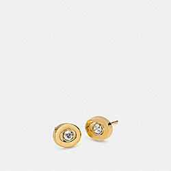 COACH PAVE STUD EARRINGS - GOLD - F90981