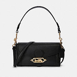 COACH F91105 Small Jade Shoulder Bag IM/BLACK