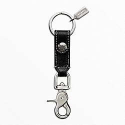 TRIGGER SNAP KEY RING - f92354 - SILVER/BLACK