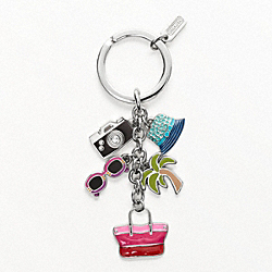COACH F93141 Hamptons Weekend Multi Mix Key Ring
