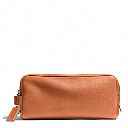 COACH F93253 Bleecker Pebbled Leather Dopp Kit SAFFRON