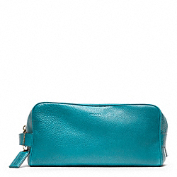 COACH F93253 Bleecker Pebbled Leather Dopp Kit TURQUOISE