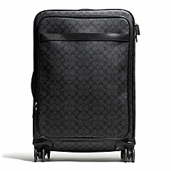 COACH F93290 Heritage Signature 26 Inch Wheel Along SILVER/CHARCOAL/BLACK