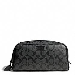 COACH F93310 Heritage Signature Travel Kit SILVER/CHARCOAL/BLACK