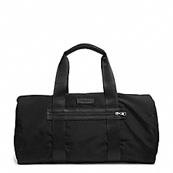 COACH F93313 - VARICK NYLON PACKABLE GYM BAG GUNMETAL/BLACK/BLACK