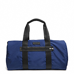 COACH F93313 - VARICK PACKABLE GYM BAG IN NYLON GUNMETAL/MARINE