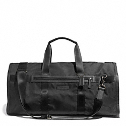 COACH F93315 - VARICK NYLON ROLL DUFFLE GARMENT BAG GUNMETAL/BLACK/BLACK