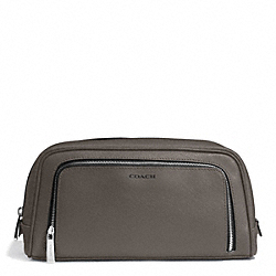 COACH F93320 Saffiano Grooming Travel Kit SV/STERLING