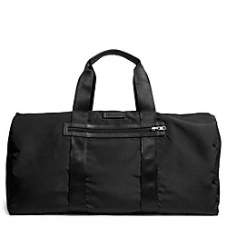 COACH F93342 Varick Packable Duffle In Nylon GUNMETAL/BLACK/BLACK