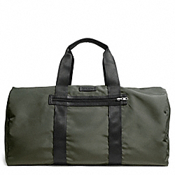 COACH F93342 Varick Packable Duffle In Nylon GUNMETAL/OLIVE
