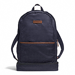 COACH F93372 - VARICK NYLON PACKABLE DAYPACK GUNMETAL/NAVY MULTI
