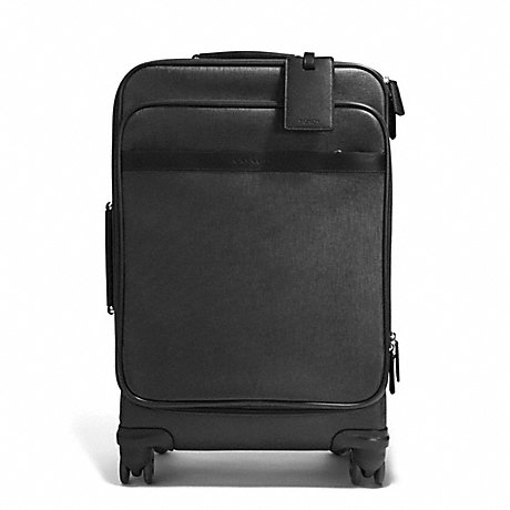 COACH F93390 COACH HERITAGE CHECK 22 INCH WHEEL ALONG SILVER/CHARCOAL