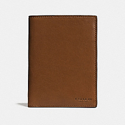 COACH F93426 Passport Case DARK SADDLE