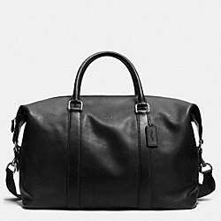 COACH F93471 Explorer Duffle In Leather  BLACK