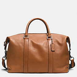 COACH F93471 - EXPLORER DUFFLE IN LEATHER  SADDLE