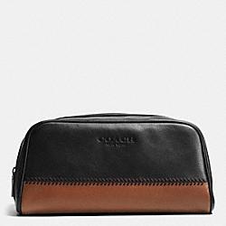 COACH F93539 Travel Kit In Baseball Stitch Leather BLACK