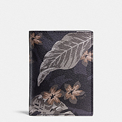 COACH F93574 Passport Case In Tropical Print Coated Canvas HAWAIIAN PALM