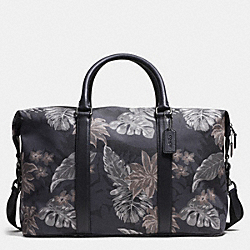 COACH F93578 Explorer Duffle In Printed Canvas HAWAIIAN PALM