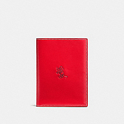COACH F93600 Mickey Passport Case RED