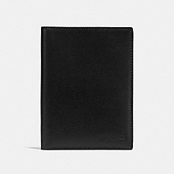 COACH F93604BLK - PASSPORT CASE BLACK