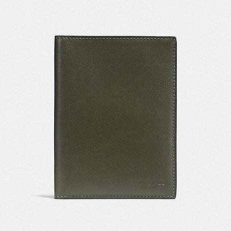 COACH F93604QBJUN PASSPORT CASE JUNIPER/BLACK ANTIQUE NICKEL