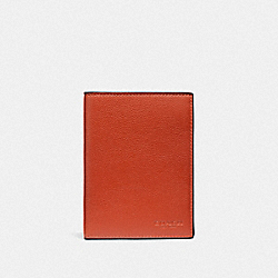 COACH F93604 Passport Case RUSSET/BLACK ANTIQUE NICKEL
