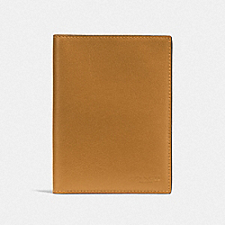 PASSPORT CASE - F93604QBP58 - AMBER/BLACK ANTIQUE NICKEL