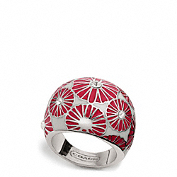 COACH F94012 Pierced Flower Dome Ring