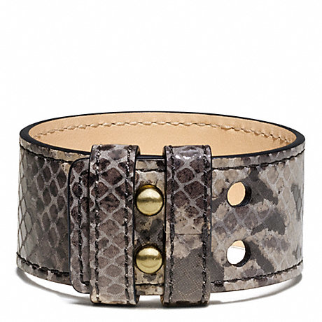 COACH F94014 PYTHON COLLAR PIN BRACELET ONE-COLOR