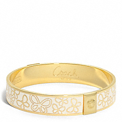 COACH F94050 Half Inch Pave Butterfly Bangle