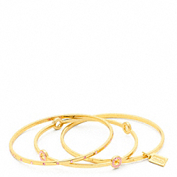 COACH F94059 Pave Bangle Set