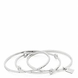 COACH F94059 Pave Bangle Set SILVER/CLEAR