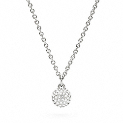 COACH F94075 Pave Ball Necklace