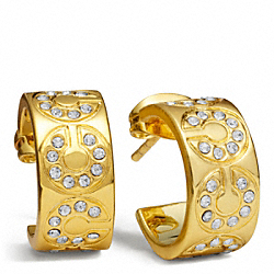 COACH F94164 - HUGGIE EARRING ONE-COLOR
