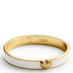 COACH F94805 Thin Snap Heart Hinged Bracelet