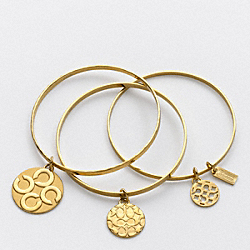 COACH F94973 Miranda Multi Disc Bracelet Set GOLD/GOLD