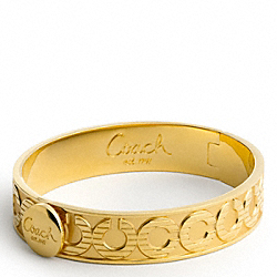 COACH F95236 Half Inch Op Art Hinged Bangle
