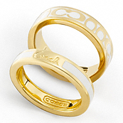 SIGNATURE C STACKED RINGS - f95239 - F95239GDWT