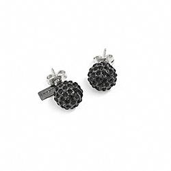 COACH F95252 Holiday Pave Stud Earrings BLACK/BLACK
