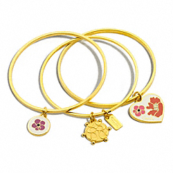COACH F95332 - POPPY HEART AND FLOWER BANGLE SET ONE-COLOR