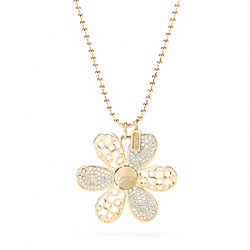 COACH F95349 Miranda Flower Pendant Necklace