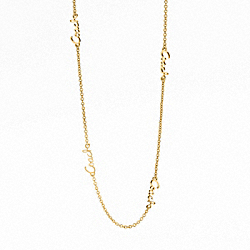COACH F95398 Miranda Coach Script Chain Necklace