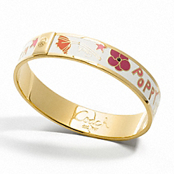 COACH F95405 Half Inch Poppy Flower Bangle