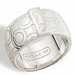 COACH F95425 Sterling Op Art Bias Band Ring